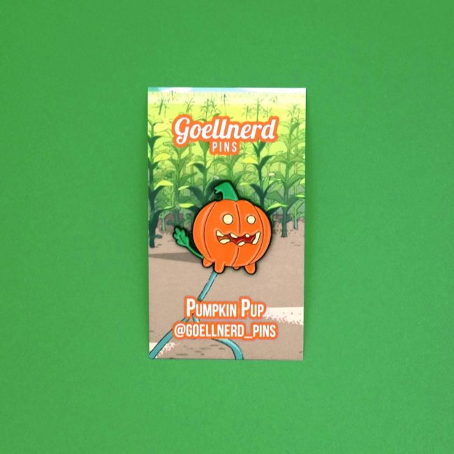 Steven Universe Pumpkin Pup pin on backing card