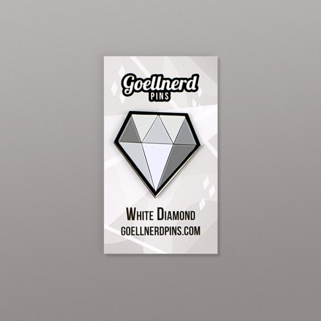 Steven Universe White Diamond Pin on Backing Card